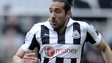 Jonas Gutierrez played for Newcastle U-21's against West Ham on Monday, his first match since finishing a course of chemotherapy to remove cancerous cells from his body in October. Owen Humphreys/PA Wire.