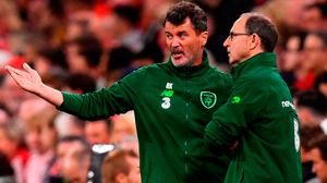Dark night: Martin O'Neill and Roy Keane have much to consider following Thursday's humiliating defeat at the hands of Wales in Cardiffnear. Photo: Stephen McCarthy/Sportsfile