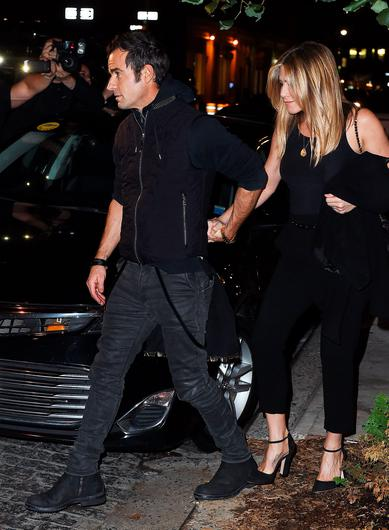 Jennifer Aniston and Justin Theroux are seen on September 24, 2016 in New York City.  (Photo by NCP/Star Max/GC Images)