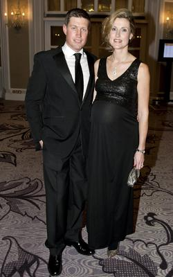 Pictured: Ronan O'Gara and his wife Jessica Photographer: Will Oliver