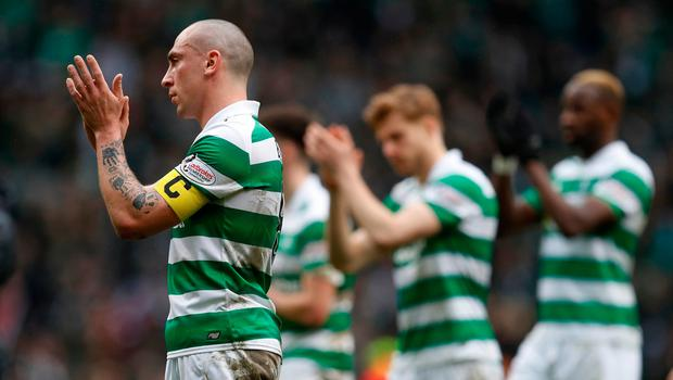 Celtic's Scott Brown after the match