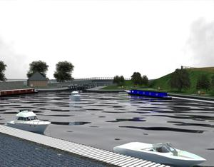 Artist's impression issued by Waterways Ireland of the Ulster at Gortnacarrow