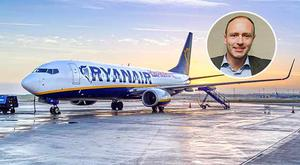 Kenny Jacobs of Ryanair (inset)
