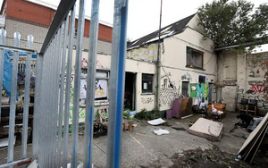 The courtyard of the property at the Grangegorman centre of the dispute.