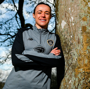 Áine O'Gorman poses for a portrait during a Republic of Ireland Women media day at Johnstown House in Enfield, Meath. Photo: Sportsfile