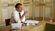 Alert: French leader Emmanuel Macron has warned of the threat of populism. Photo: REUTERS