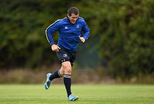 Shane Jennings goes through his paces in training. Picture credit: Stephen McCarthy / SPORTSFILE