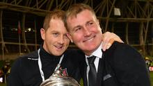 Worked well: Vinny Perth and Stephen Kenny won plenty at Dundalk