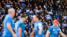 BLUE WAVE: Having big crowds at Leinster games seem very far away. Photo: Ramsey Cardy/Sportsfile