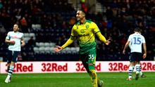 Ireland U-21 star Adam Idah scored a hat-trick for Norwich in the FA Cup against Preston. (Photo by Jan Kruger/Getty Images)