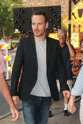 Michael Fassbender is seen on August 5, 2014 in New York City.  (Photo by GWR/Star Max/GC Images)