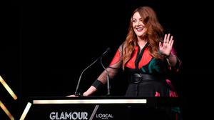 Glamour Editor-in-Chief Samantha Barry speaks onstage at the 2018 Glamour Women Of The Year Awards: Women Rise on November 12, 2018 in New York City.  (Photo by Jamie McCarthy/Getty Images for Glamour)