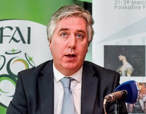 John Delaney has kept a low press profile since his ballad-singing so a few questions about Qatar at an event with a different target audience to a regular football gig was safe territory
