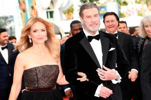 Loved ones: John Travolta and Kelly Preston pictured in 2018 in Cannes. Photo: Getty