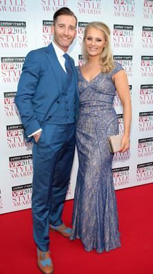 Paul and Dominique Byram  on the Red Carpet at The Peter Mark VIP Style Awards 2015 at The Marker Hotel,Dublin. Pictures Brian McEvoy