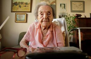 Photo dated July 2010 made available by the makers of the Oscar nominated documentary The Lady in Number 6, in which she tells her story, of Alice Herz-Sommer, believed to be the oldest-known survivor of the Holocaust, who died in London on Sunday morning at the age of 110