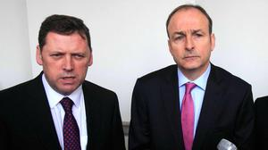 Disagreement: Barry Cowen was last night dismissed as agriculture minister by Micheál Martin. Photo: Collins Photos