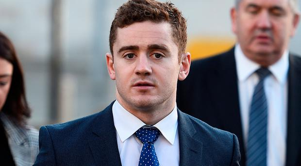 Ulster and Ireland rugby player Paddy Jackson arrives at Laganside Court in Belfast this week. Photo: REUTERS/Clodagh Kilcoyne
