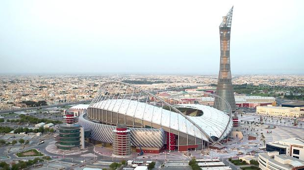 In this handout image supplied by Qatar 2022 on May 17, 2017, Qatar's Supreme Committee for Delivery & Legacy launches Khalifa International Stadium, the first completed 2022 FIFA World Cup venue, five years before the tournament begins. (Photo by Supreme Committee for Delivery & Legacy/Qatar 2022 via Getty Images)