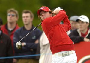 Rory McIlroy watches his drive from the ninth tee box during the Nissan Irish Open Golf Championship at Carton House Golf Club, Maynooth, Co Kildare on May 19, 2005. Photo: Matt Browne/Sportsfile