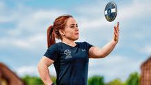 Paralympic athlete Niamh McCarthy during a training session at her home in Carrigaline, Cork. Photo: Sam Barnes/Sportsfile