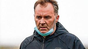 New Waterford boss John Sheridan at the Carlisle Grounds last week for their friendly against Bray Wanderers. Photo by Eoin Noonan/Sportsfile