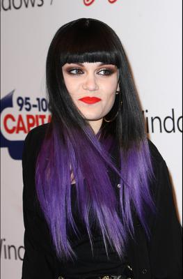 Only Jessie J could make purple dip dye look amazing