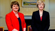 Arlene Foster and UK Prime Minister Theresa May. Photo: REUTERS/Charles McQuillan