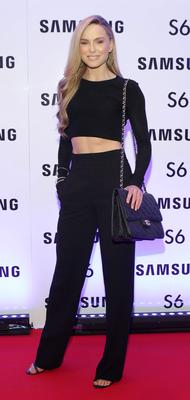 Sarah Morrissey at the exclusive launch party  for the Samsung Galaxy S6 at The Marker Hotel, Grand Canal Square , Dublin Pic:Brian McEvoy