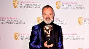 Graham Norton with the Entertainment Programme award for The Graham Norton Show, at the House of Fraser British Academy of Television Awards at the Theatre Royal, Drury Lane in London