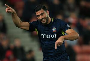 Southampton's Graziano Pelle celebrates scoring their first goal of the game. Mike Egerton/PA Wire