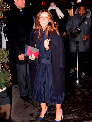 Louise Redknapp arrives for the wedding reception of Frank Lampard and Christine Bleakley at the Arts Club in Mayfair, London