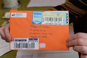 A €500 cash gift sent by registered post was stolen