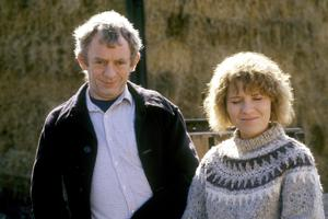 Passion, Irish-style:  Mick Lally and Mary McEvoy as Miley and Biddy in 'Glenroe' (1986)