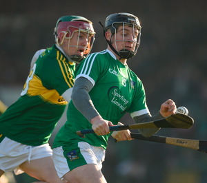 Limerick's Peter Casey in action against Kerry's Sean Weir  at the Gaelic Grounds in Limerick. Photo: Diarmuid Greene/Sportsfile