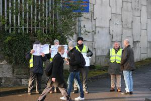 Unofficial pickets have hit Irish Rail and Dublin Bus depots (picture: Mark Condren)