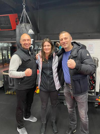 Pete Taylor, Katie Taylor and John Flynn of Colosseum Gym