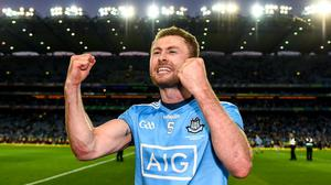 Jack McCaffrey celebrates after last September's All-Ireland SFC Final replay win over Kerry at Croke Park. Photo: Eóin Noonan/Sportsfile