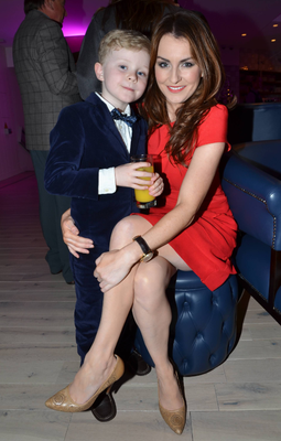 Mairead Farrell and her son Daire at the reopening of the Morrison Hotel, Dublin, 20 February.