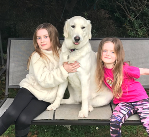 BEST PALS: Luna with Rebecca (7) and Alyssa (5)