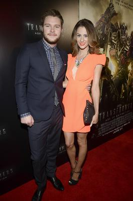 "Madeline Mulqueen (R) and actor Jack Reynor (L) arrive to the Miami Special Screening of ""Transformers: Age of Extinction"""