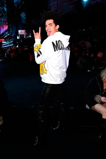 Luis Borges attends the Moschino x H&M - Front Row at Pier 36 on October 24, 2018 in New York City.  (Photo by Mike Coppola/Getty Images)