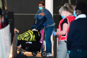 Rafael Nadal arrives at Adelaide Airport on January 14, 2021 in Adelaide, Australia. (Photo by Mark Brake/Getty Images)