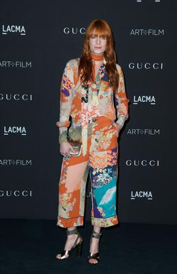 Singer Florence Welch arrives at the 2014 LACMA Art + Film Gala Honoring film director Quentin Tarantino and artist Barbara Kruger