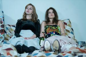 Friends in need: Seana Kerslake (left) and Nika McGuigan star as onscreen troubled friends in Can't Cope Won't Cope season 2. Photo: RTE