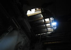 The infamous hole in the roof at Loftus Hall, photographed by Pól Ó Conghaile in 2013.