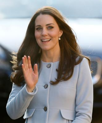 Catherine, Duchess of Cambridge arrives to attend a coffee morning at Family Friends in Kensington