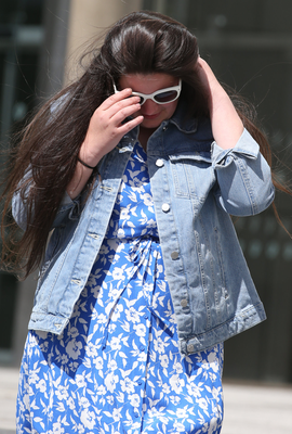Lacey O'Connor outside court after facing charges of perverting the course of justice.