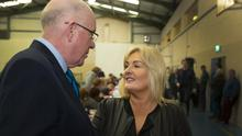 THE LOST CAUSE: Fine Gael's Wexford candidate Verona Murphy with Justice Minister Charlie Flanagan. Photo: Patrick Browne