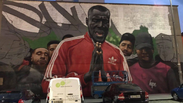 Stormzy tweeted this photo of the mural